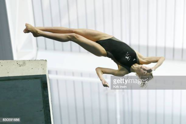 Sophia McAfee of the Trojan Dive Club competes during the Senior Women's Platform Final during the 2017 USA Diving Summer National Championships on...