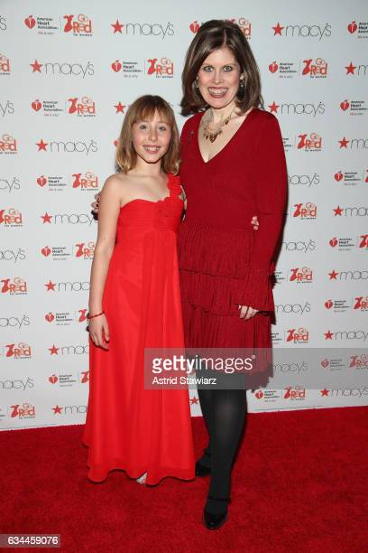 Sophia Montoya and American Heart Association CEO Nancy Brown attend the American Heart Association's Go Red For Women Red Dress Collection 2017...