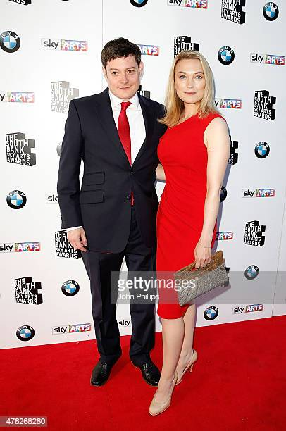 Sophia Myles and guest attend the South Bank Sky Arts Awards at The Savoy Hotel on June 7 2015 in London England