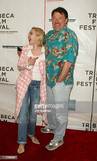 Sophia Myles and Jonathan Frakes Director during 3rd Annual Tribeca Film Festival Thunderbirds Screening at Stuyvesant High School in New York City...