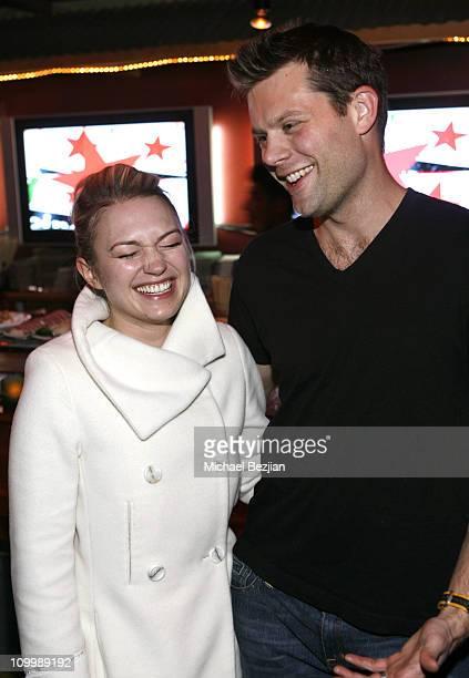 Sophia Myles and Matt Keeslar at the Heineken Green Room