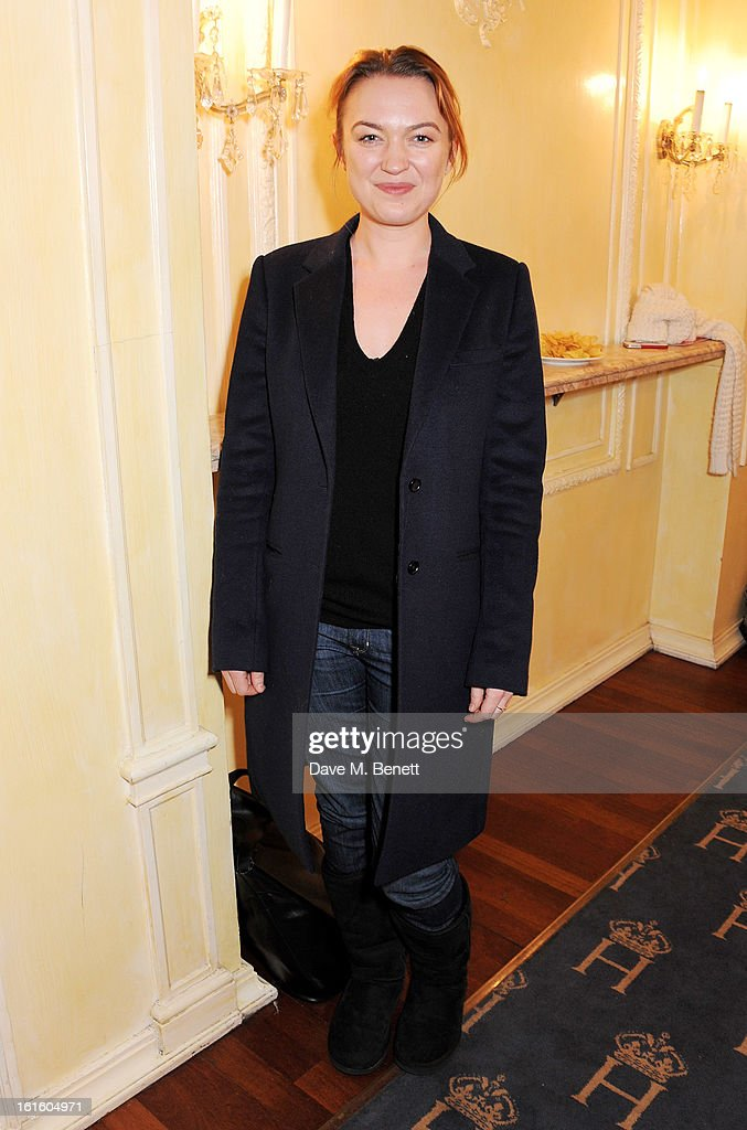 Sophia Myles attends an after party celebrating the new cast of 'One Man, Two Guvnors' at the Theatre Royal Haymarket on February 12, 2013 in London, England.