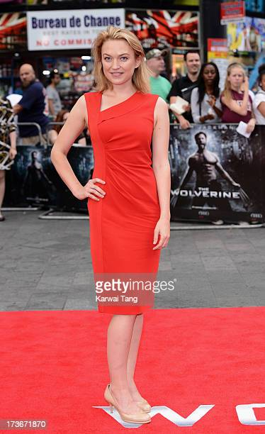 Sophia Myles attends the UK premiere of 'The Wolverine' at Empire Leicester Square on July 16 2013 in London England