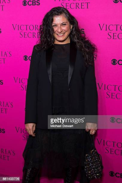 Sophia Neophitou attends the 2017 Victoria's Secret Fashion Show viewing party pink carpet at Spring Studios on November 28 2017 in New York City
