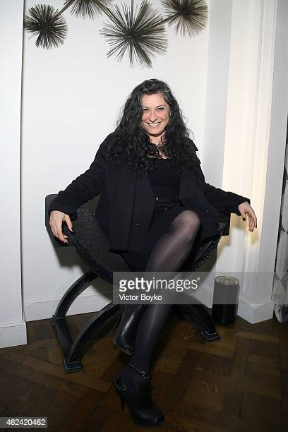Sophia NeophitouApostolou attends the party for Dasha Zhukova' cover for Wall Street Journal on January 27 2015 in Paris France