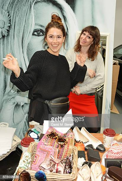 Sophia Pasetti and Annie Morris attend the #SheInspiresMe Car Boot Sale presented by The Store and Brewer Street Car Park in aid of Women for Women...
