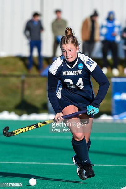 Sophia Peluso of Middlebury dribbles upfield during the Division III Women's Field Hockey Championship held at Spooky Nook Sports on November 24 2019...