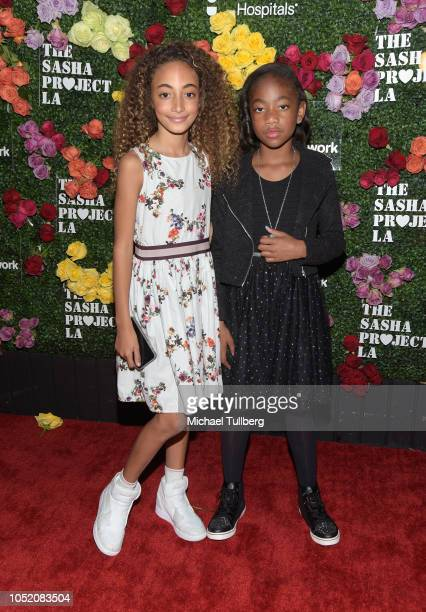 Sophia Pippen and Miracle Kid JaKiah Collins attend Rock The Runway presented by Children's Miracle Network Hospitals at Avalon on October 13 2018 in...