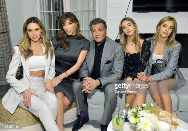 Sophia Rose Stallone, Jennifer Flavin, Sylvester Stallone, Scarlet Rose Stallone and Sistine Stallone attend A Sense Of Home's First Ever Annual Gala...