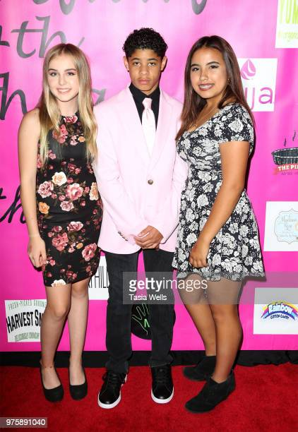 Sophia Rossil Tara Kitterman and Barry Haller attend Jillian Estell's red carpet birthday party with a purpose benefitting The Celiac Disease...