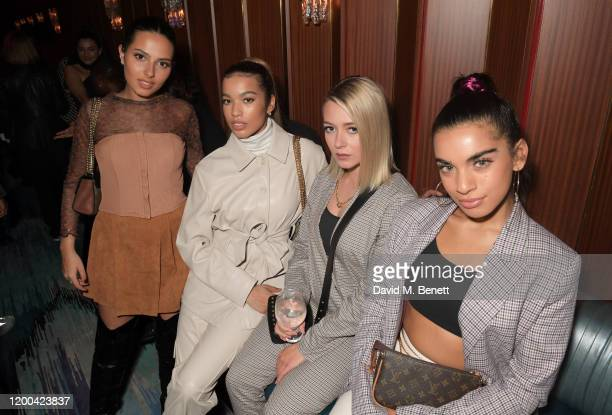 Sophia Saffarian Yasmin Lauryn Lauren Rammell and Caroline Alvares of Four Of Diamonds attend the NME Awards after party in association with Copper...