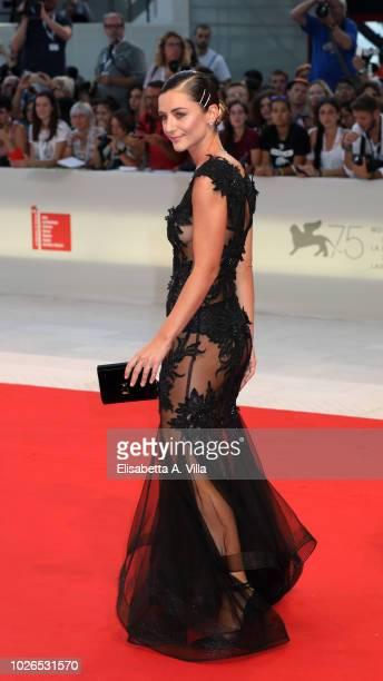 Sophia Salaroli walks the red carpet ahead of the 'At Eternity's Gate' screening during the 75th Venice Film Festival at Sala Grande on September 3...