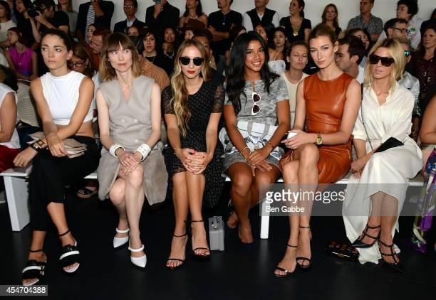 Sophia Sanchez Anya Ziourova Harley VieraNewton Hannah Bronfman Lauren Remington Platt and Adi Heyman attend the Jason Wu fashion show during...