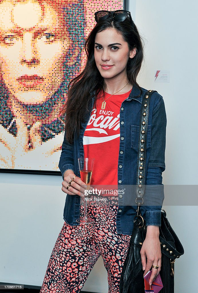 Sophia Sassoon attends The Many Faces Of David Bowie at Opera Gallery on June 20, 2013 in London, England.