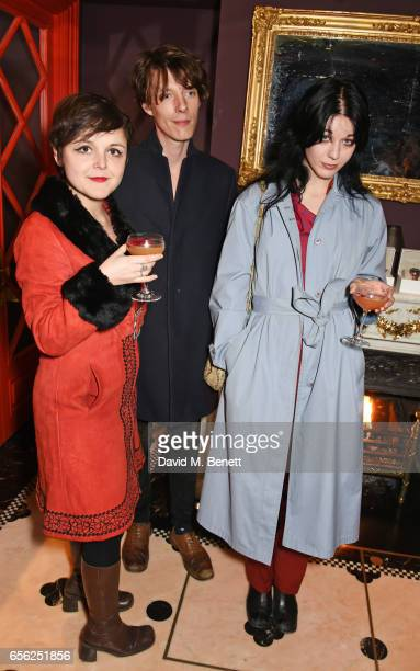 Sophia Satchell Baeza Digby Warde Albam and Lorena Lohr attend the Another Man Spring/Summer Issue launch dinner in association with Kronaby at Park...