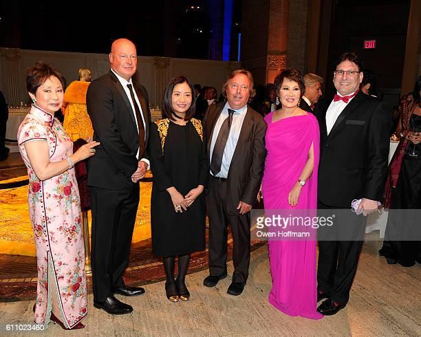Sophia Sheng Bob Chapek Guo Pei Richard Gelfond YueSai Kan and James Heimowitz attend China Institute 90th Anniversary Gala at Cipriani on September...