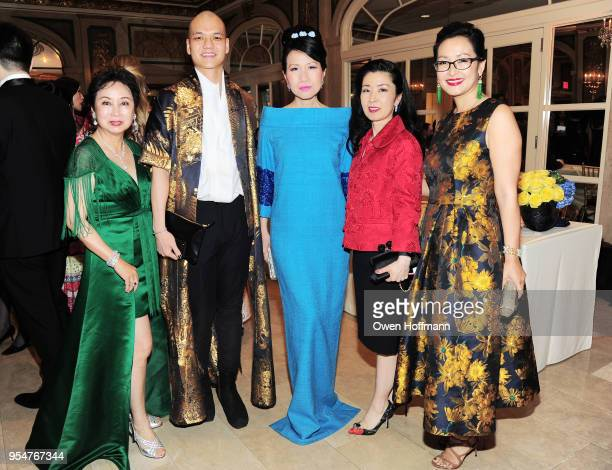 Sophia Sheng Nicholas Lieou ChiuTi Jansen Miyoko Demay and Katy Chen attend the 2018 China Fashion Gala at The Plaza Hotel on May 4 2018 in New York...