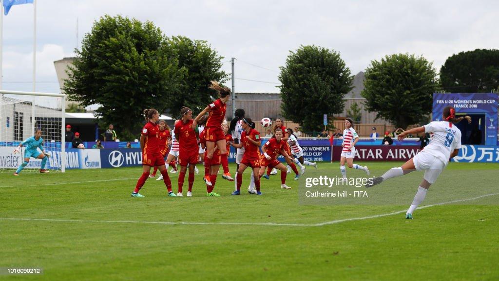 Spain v USA: Group C - FIFA U-20 Women's  World Cup France 2018
