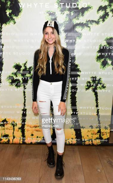 Sophia Strauss attends launch event for Whyte Studio's Festival Capsule Collection at Top Shop at the Grove on April 17, 2019 in Los Angeles,...