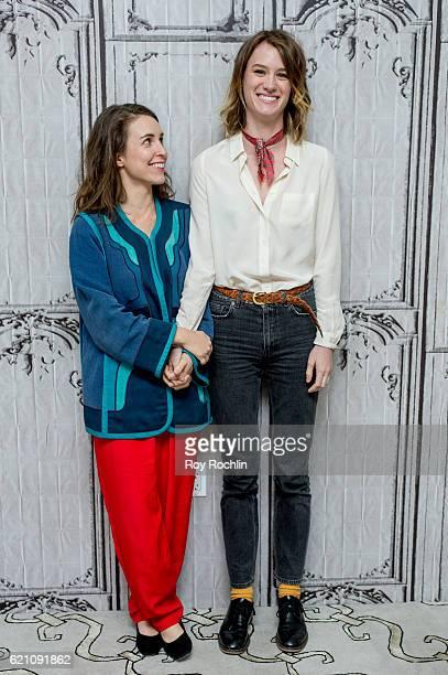 Sophia Takal and Mackenzie Davis discuss Always Shine at AOL HQ on November 4 2016 in New York City