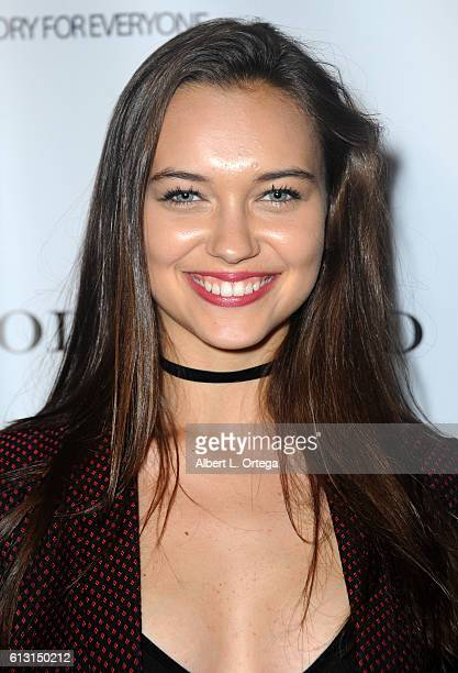 Sophia Tatum arrives for the Premiere Of Winterstone Pictures' 'Deserted' held at Majestic Crest Theatre on October 6 2016 in Los Angeles California