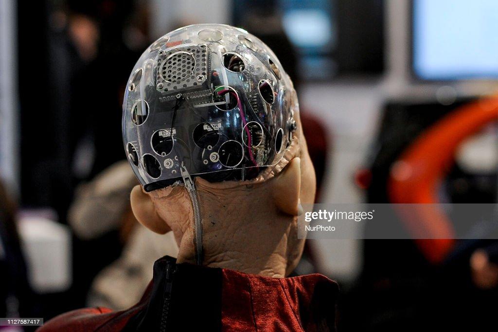 Sophia Humanoid Robot - Mobile World Congress : News Photo