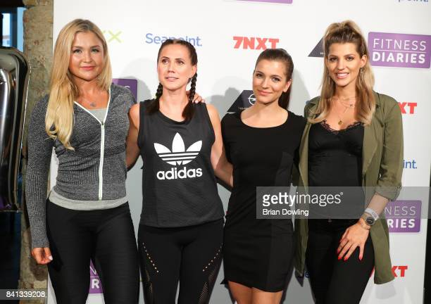 Sophia Thiel Louisa Dellert Mady Morrison and Sarah Nowak attend the launch event for Sophia Thiel's new TV Show 'Fitness Diaries' at Soho House on...