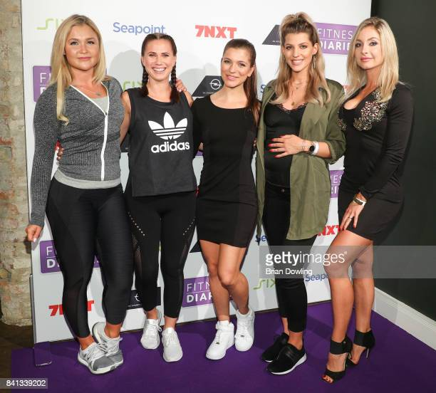 Sophia Thiel Louisa Dellert Mady Morrison Sarah Nowak and Sunny Knows attend the launch event for Sophia Thiel's new TV Show 'Fitness Diaries' at...
