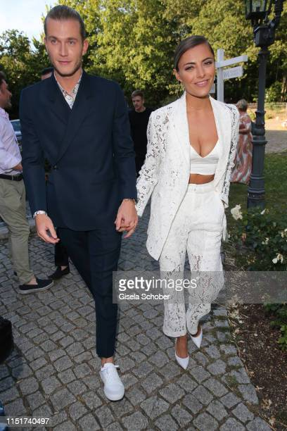 "Sophia Thomalla and her boyfriend Loris Karius during the ""Ein Herz fuer Kinder"" summer party on June 24, 2019 at Wannseeterrassen in Berlin, Germany."