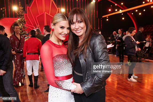 Sophia Thomalla and Simone Thomalla attend the 'Let's Dance - Let's Christmas' Show on December 20, 2013 in Cologne, Germany.