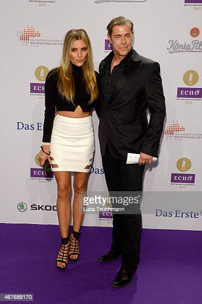 Sophia Thomalla and Sven Martinek attends the Echo Award 2015 Red Carpet Arrivals on March 26 2015 in Berlin Germany