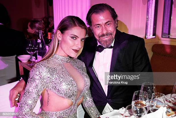 Sophia Thomalla and Sven Martinek during the German Film Ball 2016 at Hotel Bayerischer Hof on January 16 2016 in Munich Germany