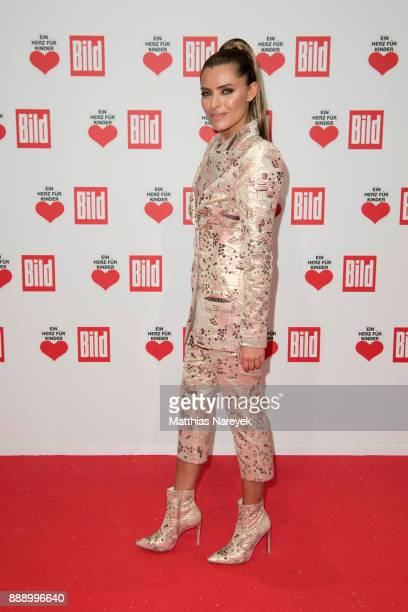 Sophia Thomalla arrives at the Ein Herz Fuer Kinder Gala at Studio Berlin Adlershof on December 9 2017 in Berlin Germany