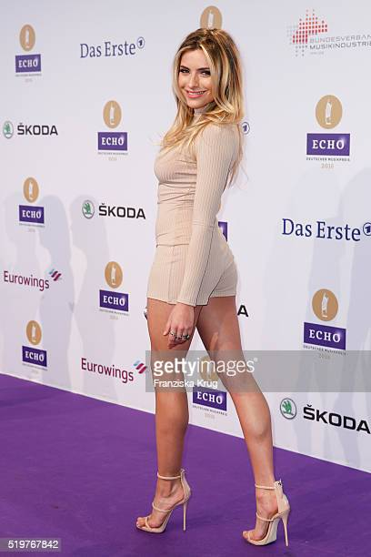 Sophia Thomalla attends the Echo Award 2016 on April 07 2016 in Berlin Germany