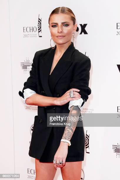 Sophia Thomalla attends the Echo award red carpet on April 6 2017 in Berlin Germany