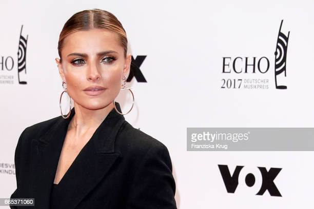 Sophia Thomalla attends the Echo award red carpet on April 6, 2017 in Berlin, Germany.