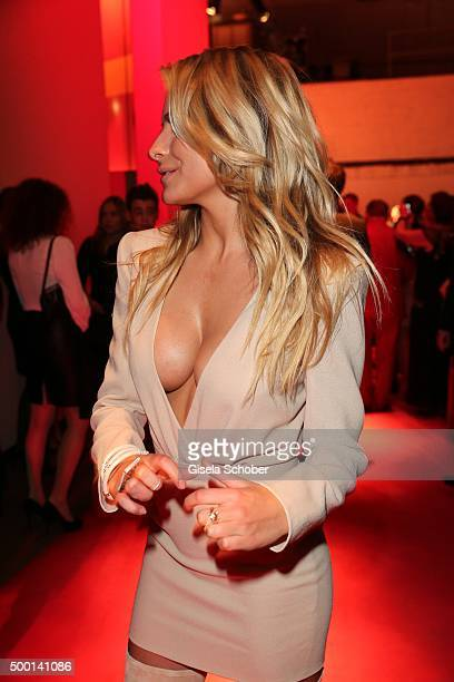 Sophia Thomalla attends the Ein Herz Fuer Kinder Gala 2015 reception at Tempelhof Airport on December 5 2015 in Berlin Germany