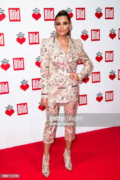 Sophia Thomalla attends the Ein Herz Fuer Kinder gala on at Studio Berlin Adlershof on December 9 2017 in Berlin Germany