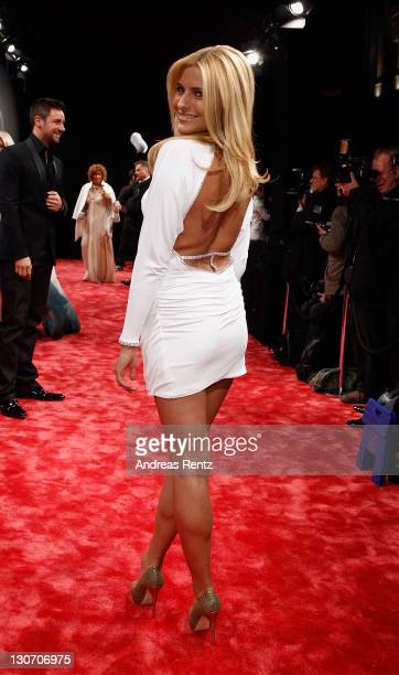 Sophia Thomalla attends the GQ Man of the Year Award 2011 at Komische Oper on October 28 2011 in Berlin Germany