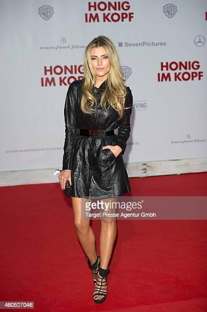 Sophia Thomalla attends the 'Honig im Kopf' Premiere at CineStar on December 15 2014 in Berlin Germany