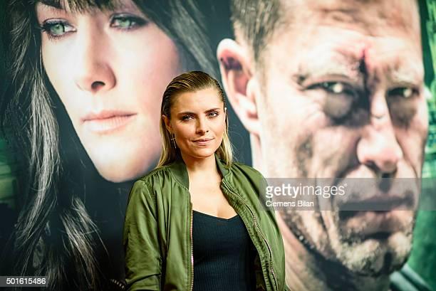 Sophia Thomalla attends the 'Tatort Der Grosse Schmerz' premiere in Berlin at Kino Babylon on December 16 2015 in Berlin Germany