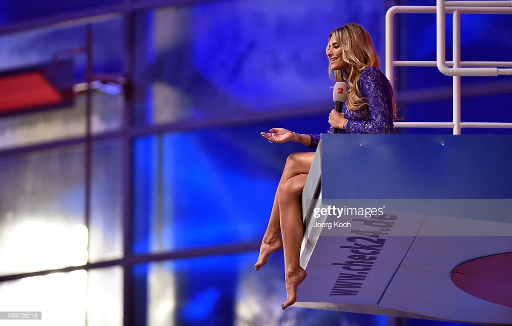 Sophia Thomalla attends the TV show 'TV Total Turmspringen' ('TV Total high diving') on November 29, 2014 in Munich, Germany.