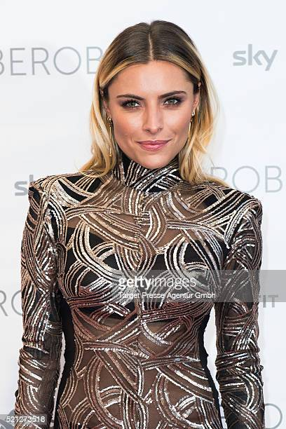 Sophia Thomalla attends the 'World of Cyberobics' presentation on April 14 2016 in Berlin Germany