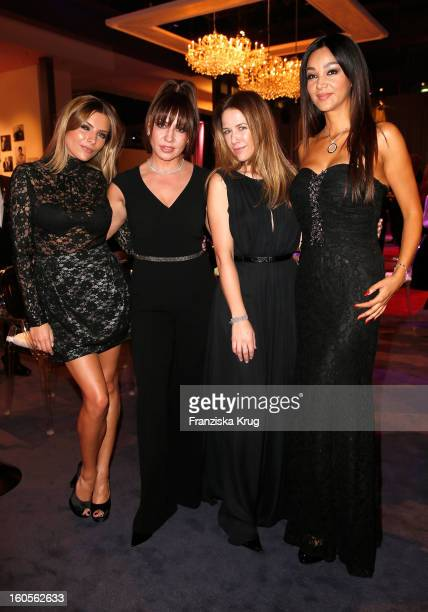 Sophia Thomalla Sabine Thomalla Alexandra Neldel and Verona Pooth attend 'Goldene Kamera 2013' at Axel Springer Haus on February 2 2013 in Berlin...