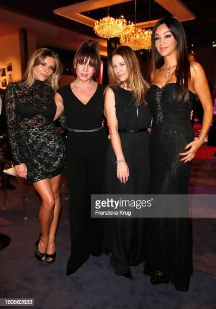 Sophia Thomalla, Sabine Thomalla, Alexandra Neldel and Verona Pooth attend 'Goldene Kamera 2013' at Axel Springer Haus on February 2, 2013 in Berlin,...