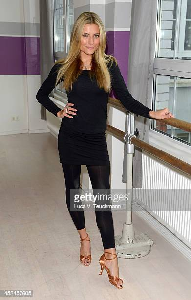Sophia Thomalla trains for 'Let's Dance Let's Christmas' at the D's Dance School on November 29 2013 in Berlin Germany