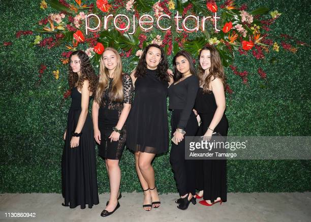Sophia Treadwell Eden Klingbeil Adela Soto Alexys Aria and Isabella De Paula attend the ProjectArt 'My Kid Could Do That' The Miami Edition on March...
