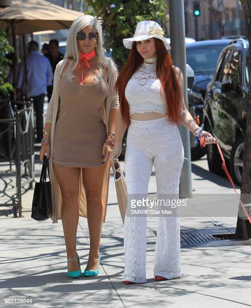 Sophia Vegas Wollersheim and Phoebe Price are seen on April 24 2018 in Los Angeles CA