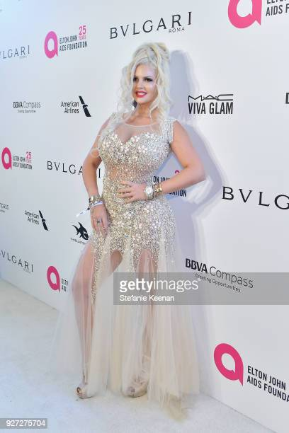 Sophia Vegas Wollersheim attends the 26th annual Elton John AIDS Foundation Academy Awards Viewing Party sponsored by Bulgari celebrating EJAF and...
