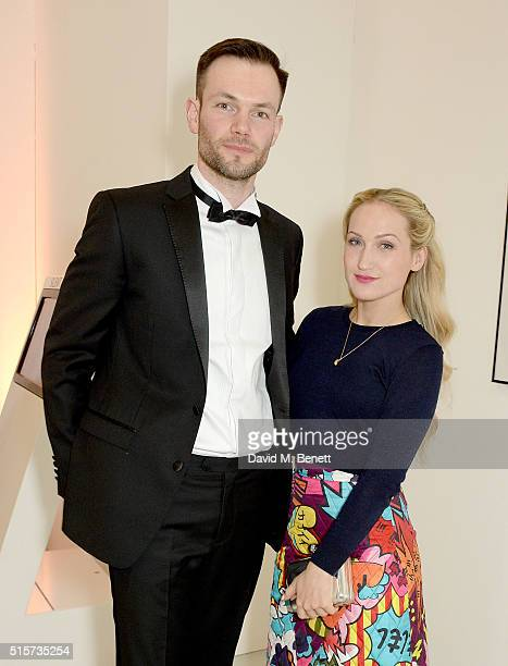 Sophia Webster and Bobby Stockley attend the Royal Academy Schools annual dinner and auction 2016 at the Royal Academy of Arts on March 15 2016 in...